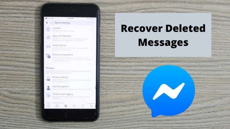 how to recover deleted messages in messenger
