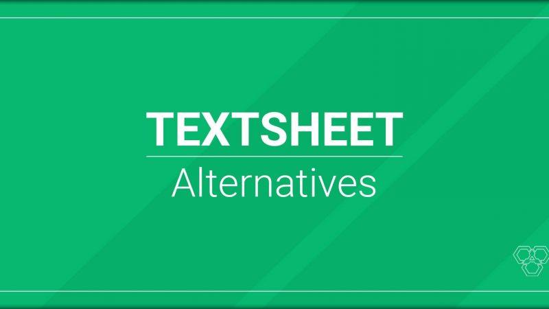 is textsheet down