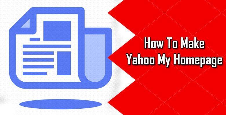 make yahoo your homepage on google chrome